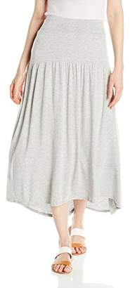 Bass G.H Co. Women's Lt. Wt. Viscose Spandex Midi Skirt