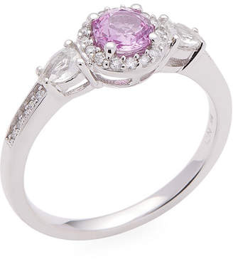 Rina Limor Fine Jewelry 14K Pink And White Sapphire & Diamond Engagement Ring