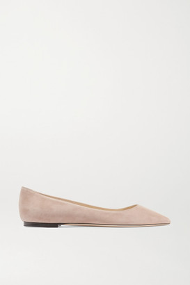 Jimmy Choo Romy Suede Point-toe Flats - Antique rose
