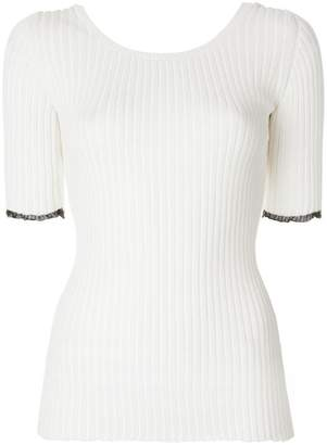 Proenza Schouler Ribbed Scoop Back Top