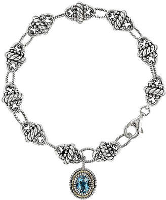 Couture FINE JEWELRY Shey Genuine Swiss Blue Topaz Sterling Silver and 14k gold Bracelet