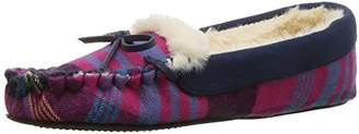 Dearfoams Mixed Material Moccasin Women's