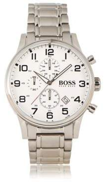 HUGO BOSS Chronograph Stainless Steel 3-Hand Quartz Watch 1513182 One Size Assorted-Pre-Pack