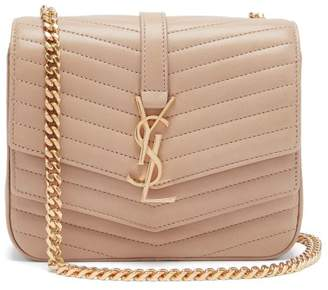 Saint Laurent Sulpice Small Leather Shoulder Bag - Womens - Nude