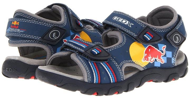 Geox Kids - Jr S. Strada Red Bull 1 (Little Kid) (Blue/Red) - Footwear
