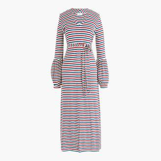 J.Crew Universal Standard for jersey long-sleeve maxi dress in stripe