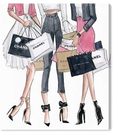 Oliver Gal Gallery Shopping Date Canvas Art - 13