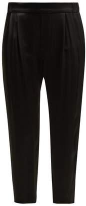Nili Lotan Maxwell Silk Trousers - Womens - Black