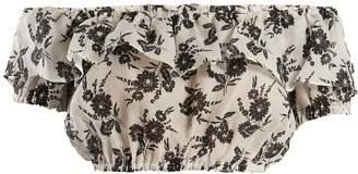 Miu Miu Floral-print off-the-shoulder top