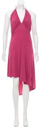 CNC Costume National Halter Midi Dress Pink Halter Midi Dress