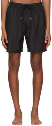 Burberry Black Guildes Logo Swim Shorts