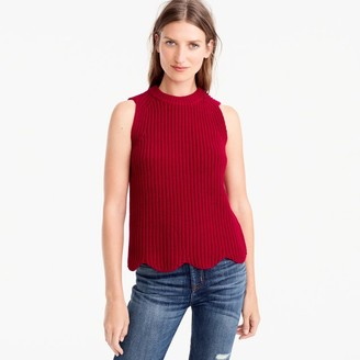 Scalloped knit sweater shell $59.50 thestylecure.com