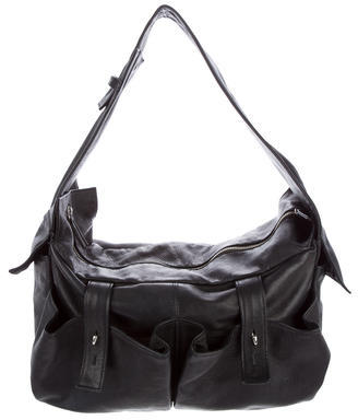 Yohji Yamamoto Smooth Leather Shoulder Bag $295 thestylecure.com