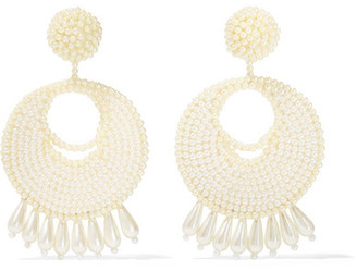 Faux Pearl Beaded Earrings - Off-white