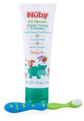 Nuby All Natural Toddler Toothpaste with Citroganix with Toothbrush