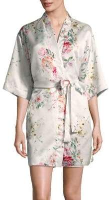 Flora Nikrooz Floral-Print Bridal Robe