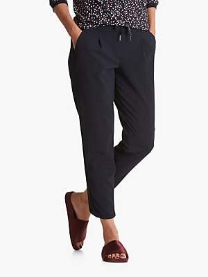 Betty Barclay Sporty Split Hem Detail Crepe Pants, Mood Blue