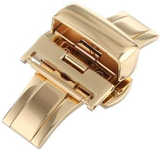 Hadley Roma Hadley-Roma 18mm IP Yellow Gold-Plated Push Button Deployant Clasp