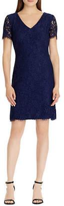 Lauren Ralph Lauren Slim Fit Short Sleeve Lace Dress