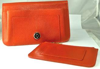 Hermes HamptonGems HAMPTON GEMS COLOR) LEATHER WALLET/CLUTCH WITH SEPARATE CHAIN PURSE