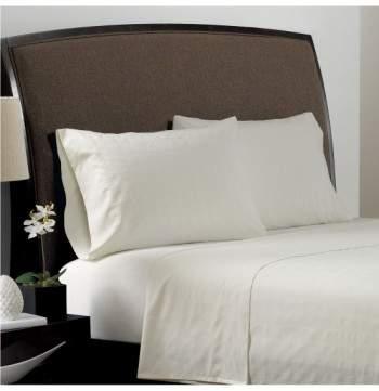 PORTICO Dobby Plaid Organic Cotton Flat Sheet