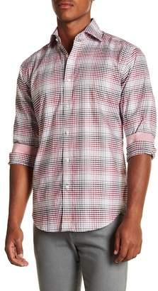 Thomas Dean Plaid Long Sleeve Sport Fit Shirt