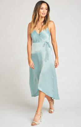 Show Me Your Mumu Meghan Wrap Dress ~ Silver Sage Sheen