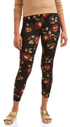 French Laundry Women's Floral Printed Super Soft Legging
