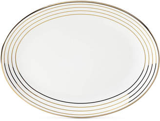 Kate Spade Charles Lane Gold-Tone Stripe Accents Oval Platter