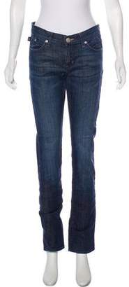 Rock & Republic Mid-Rise Straight-Leg Jeans