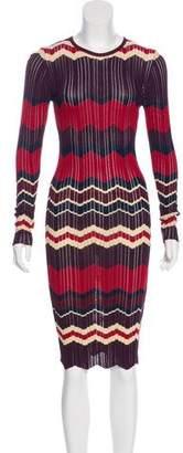 Ronny Kobo Chevron Midi Dress
