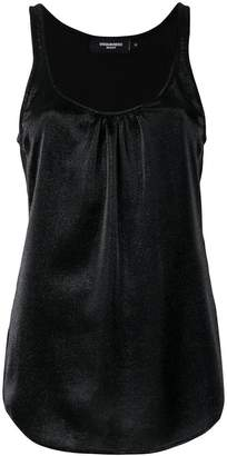DSQUARED2 metallic sleeveless vest top