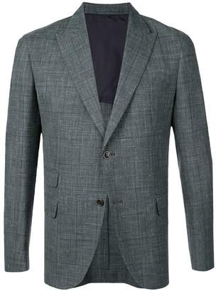 Eleventy tartan pattern blazer