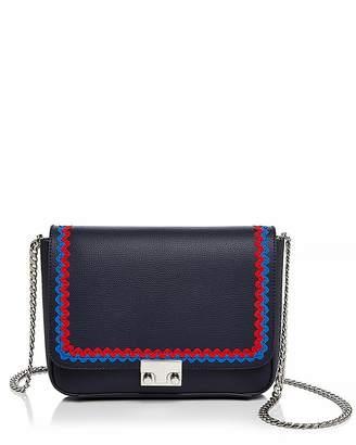 Loeffler Randall Lock Saffiano Leather Shoulder Bag