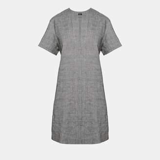 Theory Crunch Linen Slit Front Shift Dress