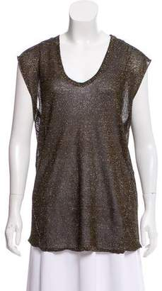 Isabel Marant Sleeveless Metallic Top