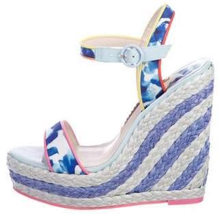 Sophia Webster Ankle-Strap Wedge Sandals