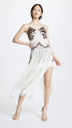Paco Rabanne V Neck Mesh Layered Dress
