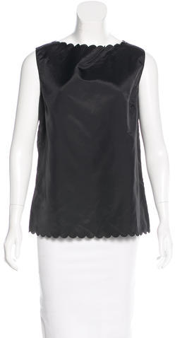 Marc Jacobs Marc Jacobs Scallop-Trimmed Sleeveless Top w/ Tags