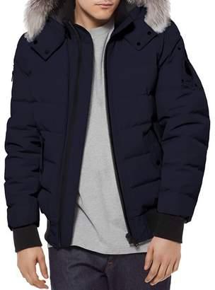 Moose Knuckles Glace Bay Fur-Trimmed Down Bomber Jacket
