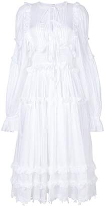 Dolce & Gabbana ruffle trim dress