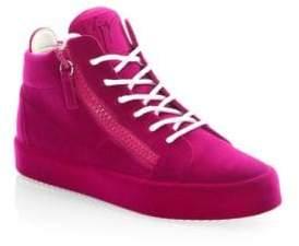 Giuseppe Zanotti Round Toe Mid-Top Sneakers