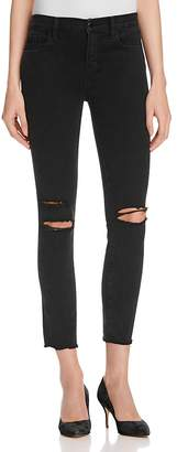 J Brand Low Rise Skinny Jeans in Black Mercy - 100% Exclusive