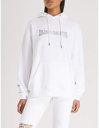 Wasted Paris London logo-print cotton-jersey hoody