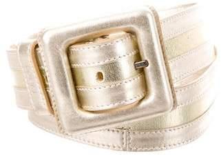 Loewe Metallic Leather Waist Belt