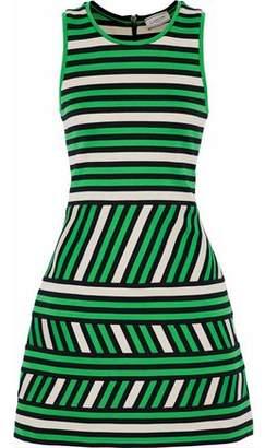 Lanvin Striped Intarsia-Knit Cotton-Blend Mini Dress