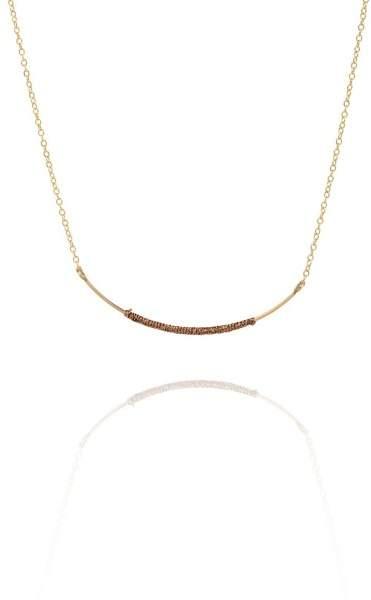 Styleserver DE By Boe Halskette Curved Wand vergoldet - bronze