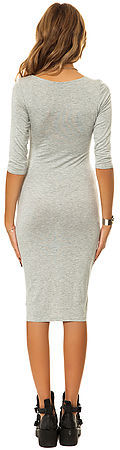 *MKL Collective The Satisfaction Dress in Heather Grey