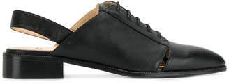 Jil Sander Navy slingback lace-up shoes