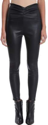 IRO Black Leather Leggings